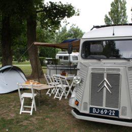 David op de camping